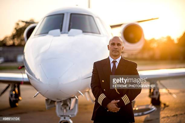 captain of private jet aeroplane - piloting stock pictures, royalty-free photos & images