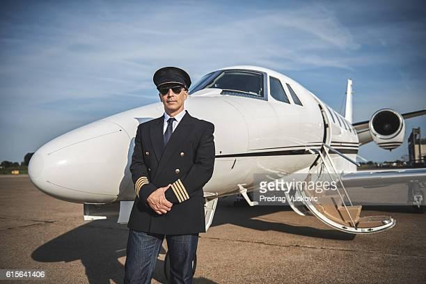 Kapitän private jet-Flugzeug