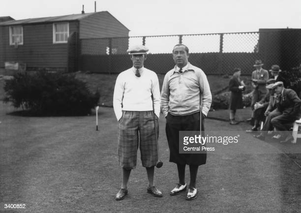 Captain of the American Ryder Cup team Walter Hagen with his British counterpart George Duncan at Leeds