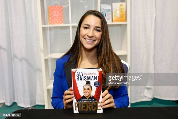 Captain of the gold medalwinning US Olympic women's gymnastics teams presents her book 'Fierce' during 2018 Massachusetts Conference For Women...