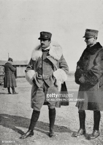 Captain Oreste Salomone on the morning before the raid on Ljubljana Italy World War I from L'Illustrazione Italiana Year XLIII No 10 March 5 1916