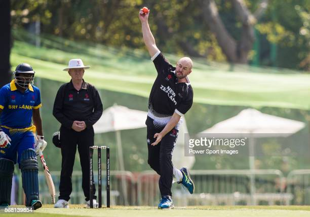 Captain Peter Fulton of New Zealand Kiwis bowls during Day 1 of Hong Kong Cricket World Sixes 2017 Group B match between New Zealand Kiwis vs Sri...