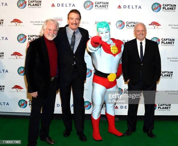 Captain Planet with Honorees Chuck Leavell Brad Bartlett and Richard Louv attend 2019 Captain Planet Foundation Gala at Flourish Atlanta on November...