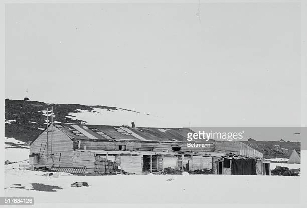 Captain Robert Falcon Scott RN leader of the British Antarctic Expedition of 1911 and his men spent the winter in this hut at Cape Evans Ross Island...