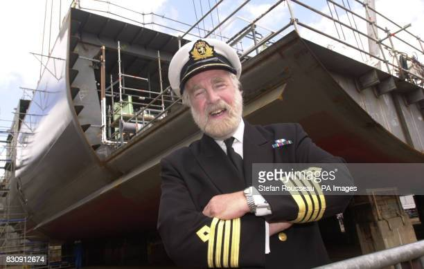 Captain Ron Warwick at the Alstom Chantiers de L'Atlantique ship yard in Saint Nazaire Brittany France as the keel laying ceromony takes place on the...