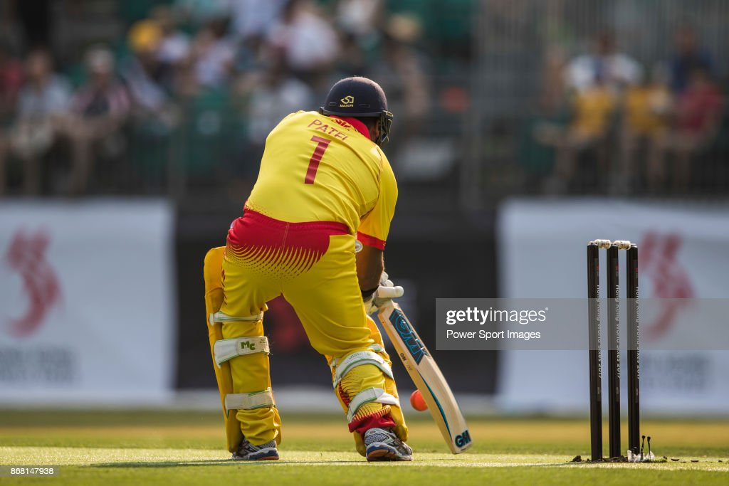 Captain Samit Patel Of Marylebone Cricket Club Hits A Shot