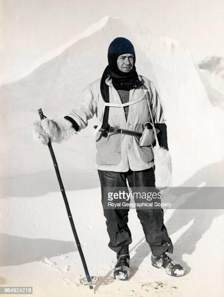 Captain Scott at the ice crack, Antarctica, 8th October 1911. British Antarctic Expedition 1910-1913.