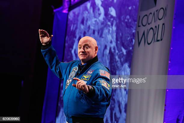 Captain Scott Kelly speaks on stage at LocationWorld 2016 Day 1 at The Conrad on November 2 2016 in New York City