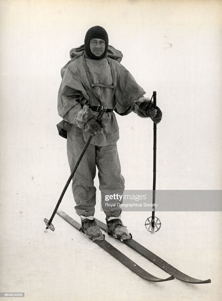 Captain Scott on skis, Antarctica, October 1911. British Antarctic Expedition 1910-1913.