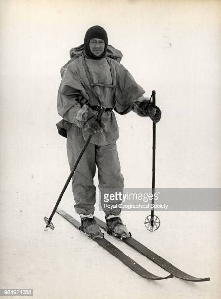 Captain Scott on skis Antarctica October 1911 British Antarctic Expedition 19101913