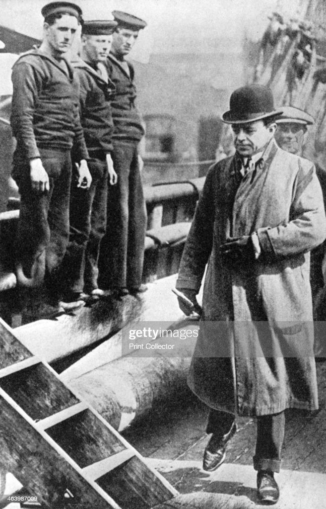 Captain Scott, British polar explorer, on the 'Terra Nova', c1900s-c1910s (1936). : News Photo