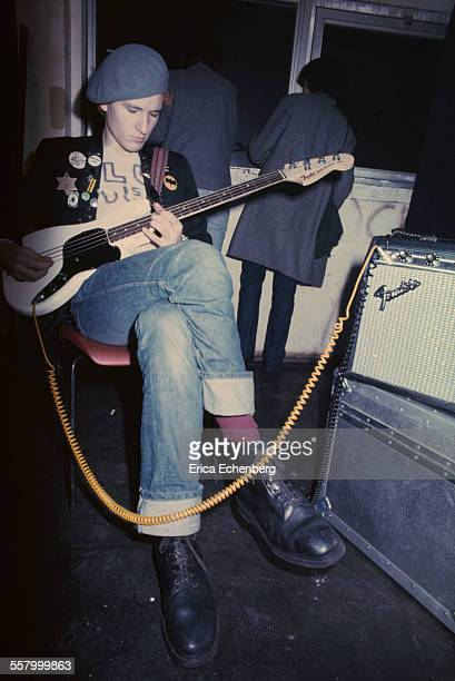 Captain Sensible of The Damned backstage at The Roundhouse Camden Town London United Kingdom December 1977