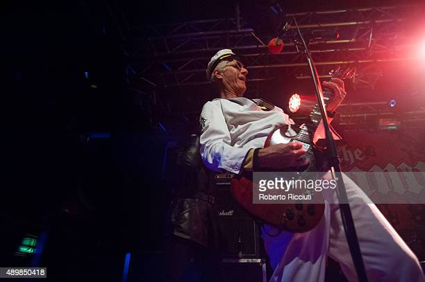 Captain Sensible of The Damned performs on stage at The Liquid Room on September 24 2015 in Edinburgh Scotland