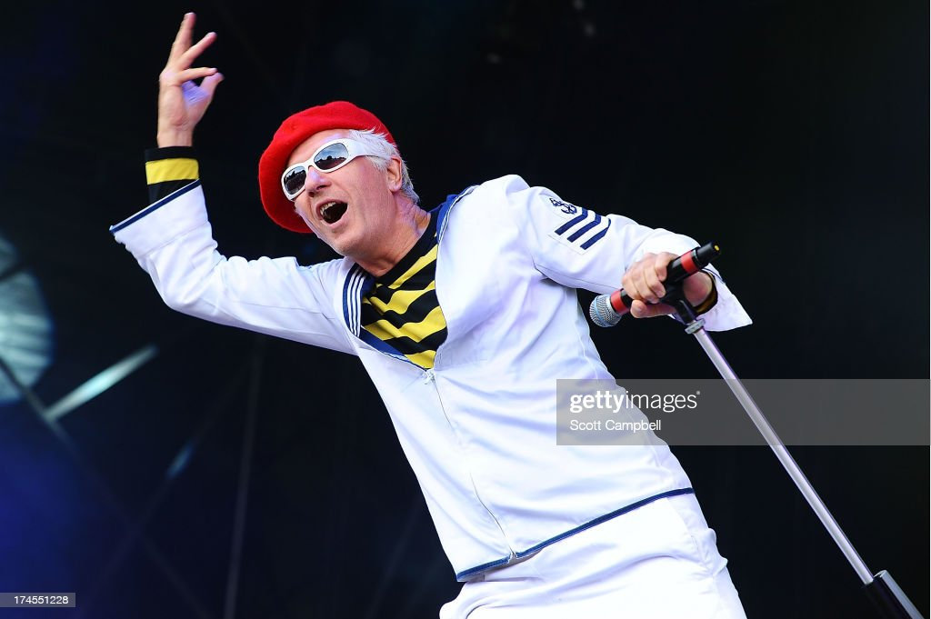 Captain Sensible performs on stage on Day 2 of Rewind 80s Festival 2013 at Scone Palace on July 27, 2013 in Perth, Scotland.