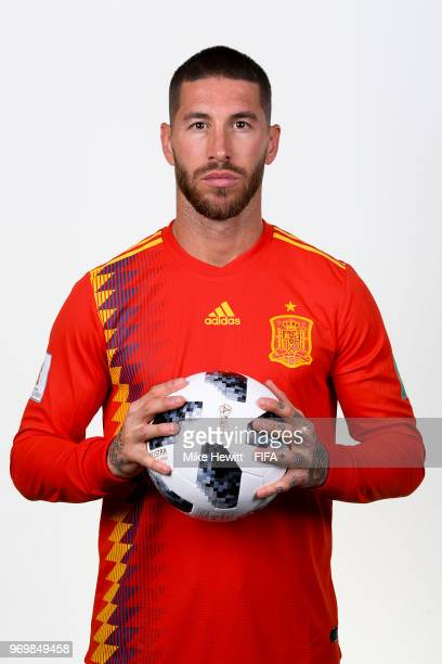 7fd003a58 Captain Sergio Ramos of Spain poses for a portrait during the official FIFA  World Cup 2018