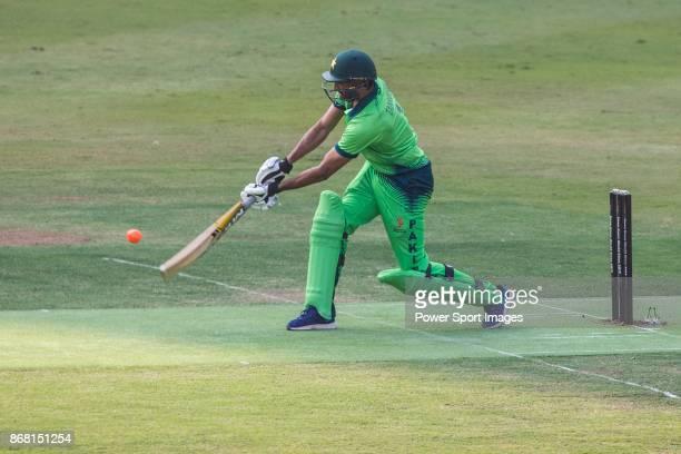 Captain Sohail Tanvir of Pakistan hits a shot during Day 1 of Hong Kong Cricket World Sixes 2017 Group A match between Marylebone Cricket Club vs...