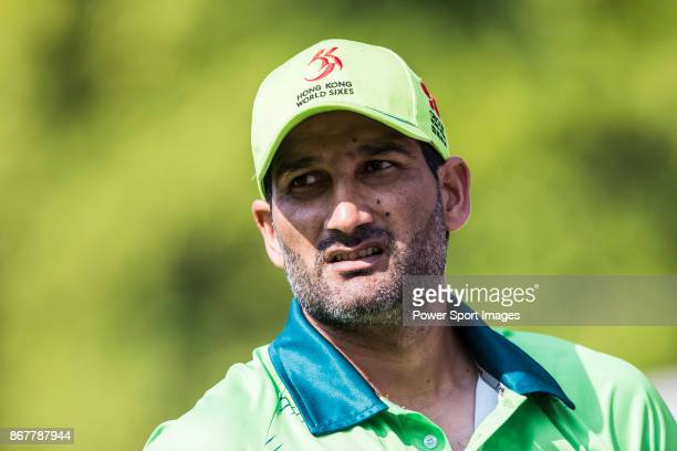 Captain Sohail Tanvir of Pakistan looks on during Day 2 of Hong Kong Cricket World Sixes 2017 Cup Semi 2 match between Pakistan vs Australia at...