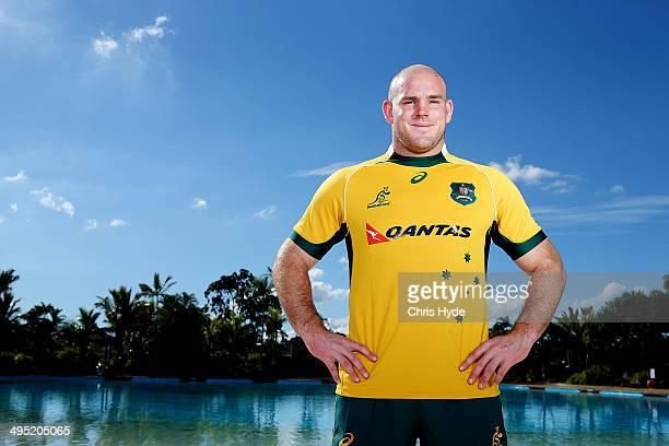 Captain Stephen Moore poses during the Australian Wallabies captaincy announcement at Sanctuary Cove on June 2 2014 in Gold Coast Australia