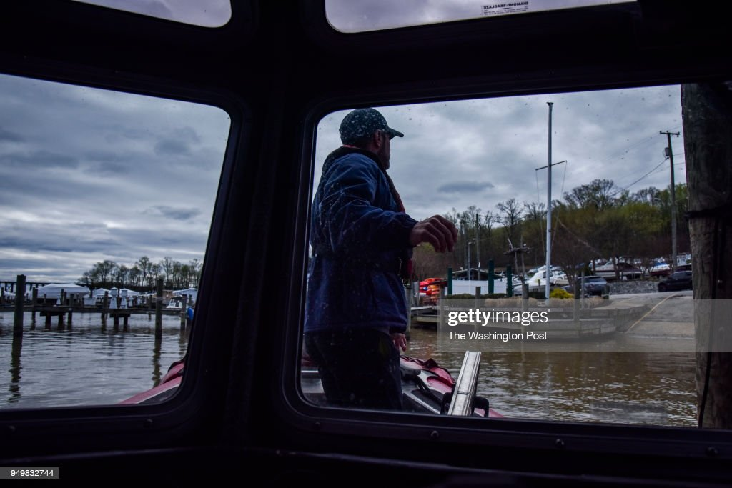Captain Terry Hill, owner of Hampton's Landing Marina, at Neabsco Creek on Tuesday, April 17, 2018, in Woodbridge, VA. The U.S. Coast Guard recently removed the navigational aids and replaced them with large 'DANGER' signs in Occoquan Bay just outside Neabsco Creek. This essentially closes the waters to boat traffic in the creek. The decision, without forewarning or public input, has led the Fire Department to 'park' their rescue boat, 800 boaters (at the start of the boating season) will not travel in/out of the channel, a dozen businesses and 50 jobs could lose their livelihoods, and there could be loss of tax revenue for the state/county.