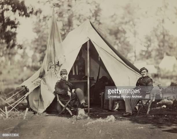 Captain Thomas Alexander 80th New York Infantry Culpeper Virginia USA by Timothy H O'Sullivan September 1863