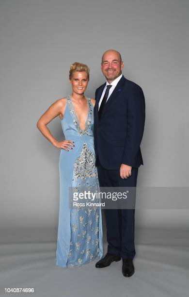 Captain Thomas Bjorn of Europe poses with his girlfriend Grace Barber prior to the 2018 Ryder Cup Gala at the Palace of Versailles on September 26...