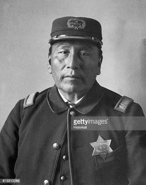 Captain thunderbearSiouan Family Ogallala Sioux Tribe 49 yrs old Captain of US indians at Pine Ridge Agency SD