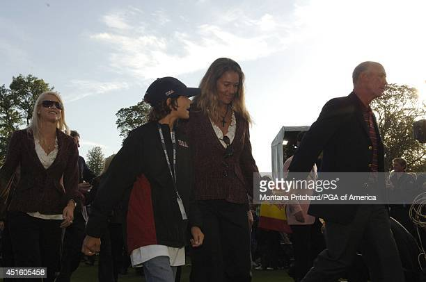 US Captain Tom Lehman wife Melissa and their son walking to the stage for Closing Ceremonies at the Ryder Cup held at The KClub in Straffan Ireland...