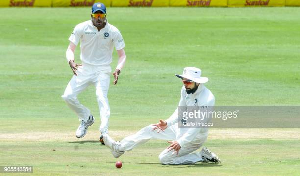 Captain Virat Kohli of India fielding during day 4 of the 2nd Sunfoil Test match between South Africa and India at SuperSport Park on January 16 2018...