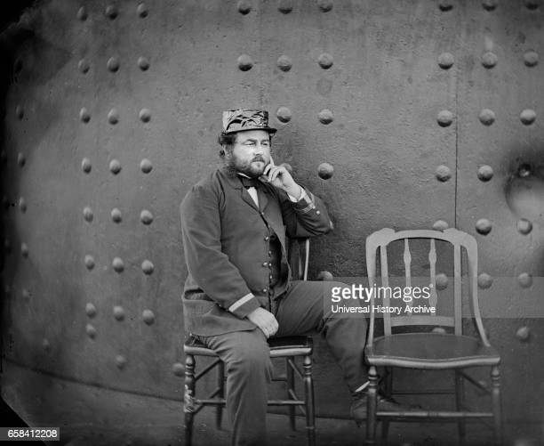 Captain William Nicholson Jeffers on deck of USS Monitor James River Virginia by James F Gibson July 1862