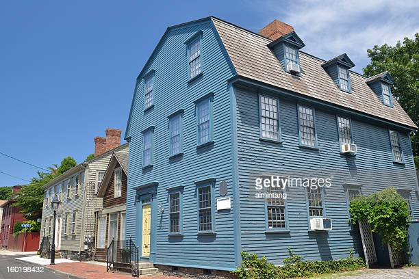 captain william read house in newport - newport rhode island stock pictures, royalty-free photos & images