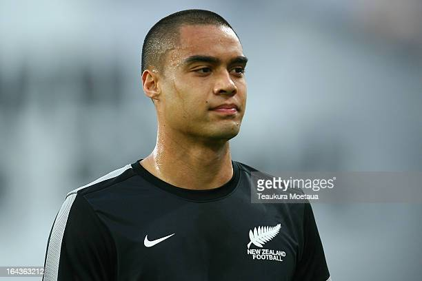 Captain Winston Reid of the New Zealand All Whites looks on before the FIFA World Cup Qualifier match between the New Zealand All Whites and New...