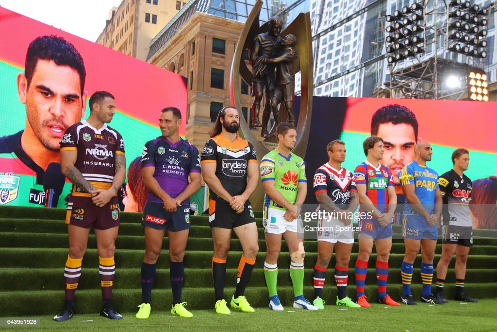 NRL captains are introduced during the 2017 NRL Season Launch at Martin Place on February 23, 2017 in Sydney, Australia.