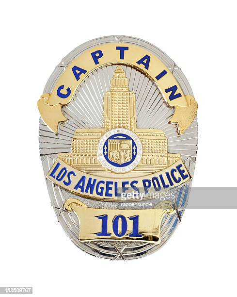 lapd captain's badge - los angeles police department stock pictures, royalty-free photos & images