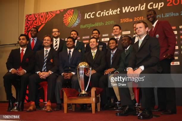 Captains Elton Chigumbura of Zimbabwe Daniel Vettori of New Zealand Shahid Afridi of Pakistan Graeme Smith of South Africa Andrew Strauss of England...