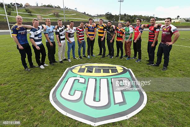 Captains from the ITM Cup teams Charlie OConnell of Otago Tom McCartney of Auckland Cameron Eyre of Northland Brendon OConnor of Hawkes Bay Bryn Hall...