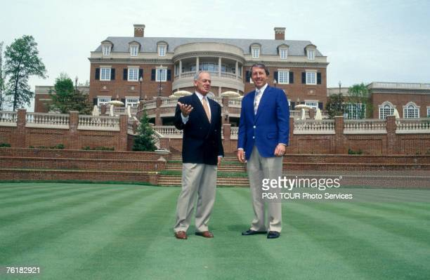 Captains Hale Irwin and David Graham on the clubhouse lawn. 1994 Presidents Cup - September 16-18, 1994 - Robert Trent Jones GC, Prince William...