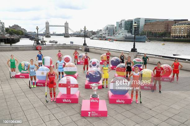 Melissa Gonzalez Captain of USA is pictured in central London today July 18 three days before the Vitality Hockey Women's World Cup gets underway on...