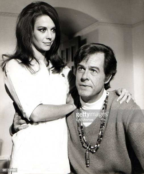 LR American actors Natalie Wood and Robert Culp posed together in a promotional still from the film 'Bob Carol Ted Alice' directed by Paul Mazursky...
