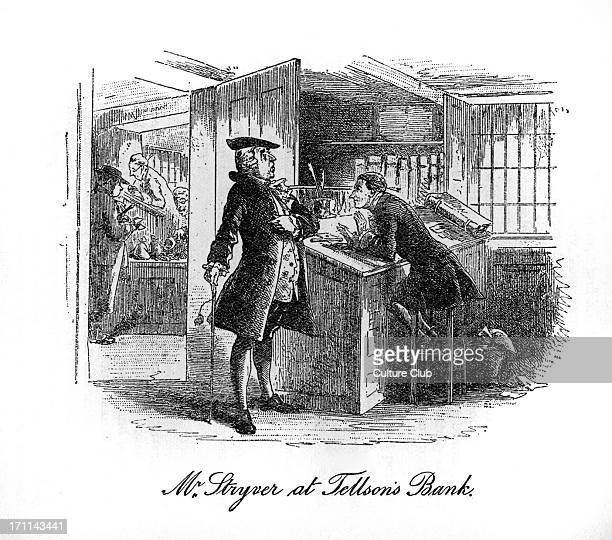 Caption reads 'Mr Stryver at Tellson's Bank' Mr Stryver tells Mr Lorry of his intention to marry Lucie Manette CD English novelist 7 February 1812 –...