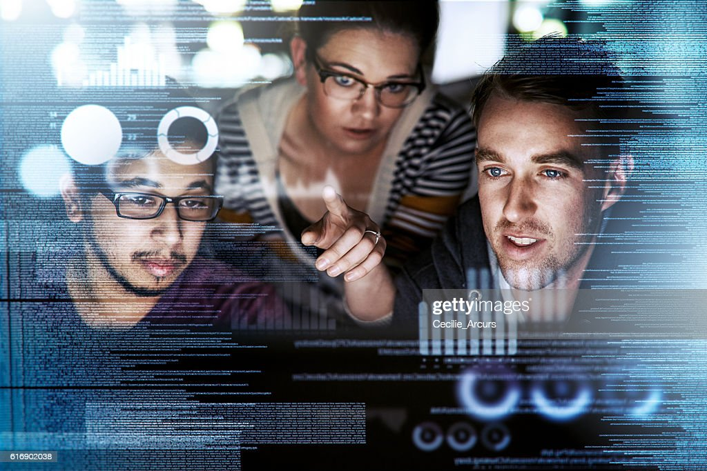 Captivated by the code : Stock Photo