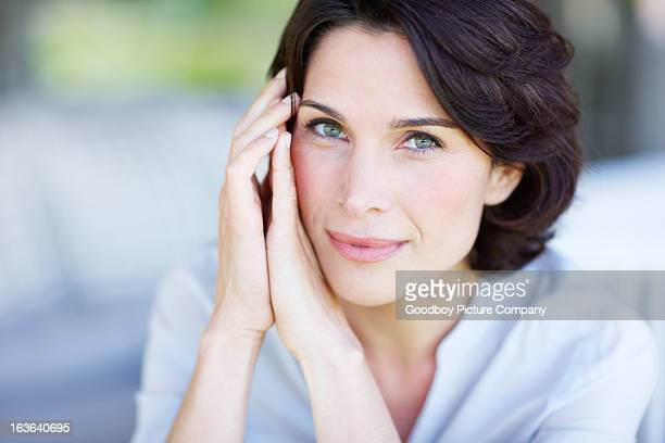 captivating gaze - pretty older women stock pictures, royalty-free photos & images