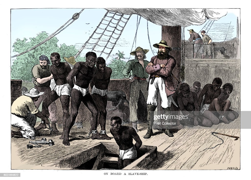 Captives Being Brought On Board A Slave Ship On The West Coast Of Africa (Slave Coast) C1880 : News Photo