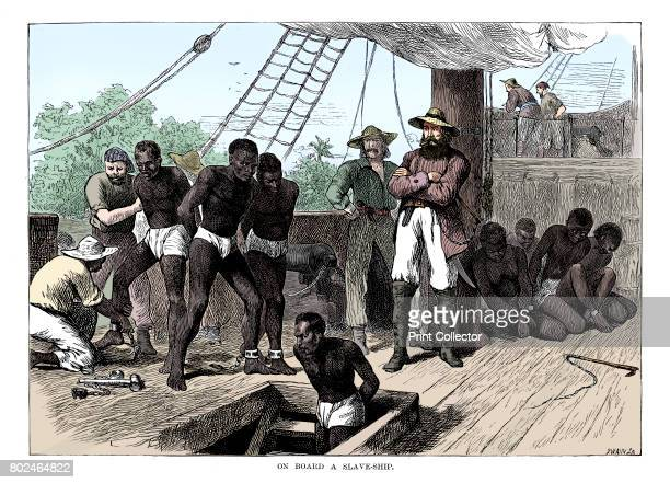 Captives being brought on board a slave ship on the West Coast of Africa c1880 Although Britain outlawed slavery in 1833 and it was abolished in the...