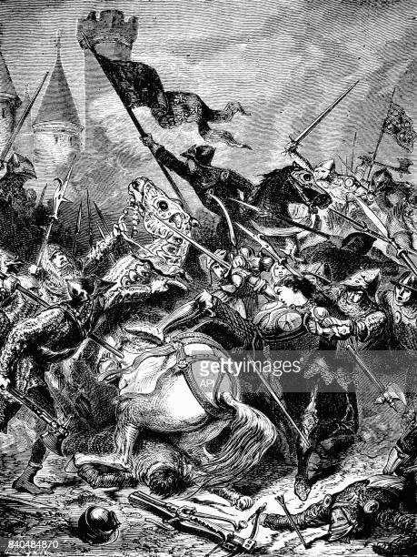 Capture de Jeanne d'Arc par les Bourguignons à Compiègne le 23 mai 1430 France