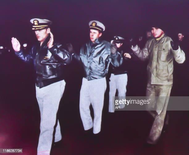 Capture de l'équipage accusé d'espionnage de l''USS Pueblo' le 23 janvier 1968 Corée du Nord