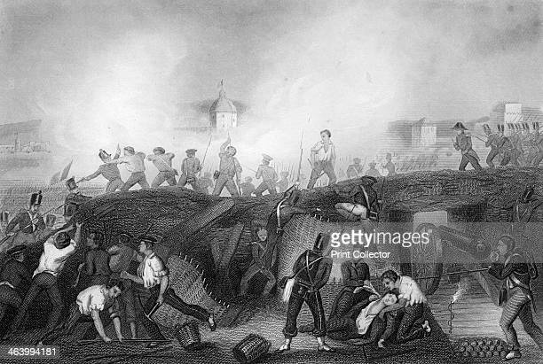 Capture of Ciudad Rodrigo, Spain, Peninsular War, 1812 . British troops commanded by the Duke of Wellington laid siege to the French held fortress of...