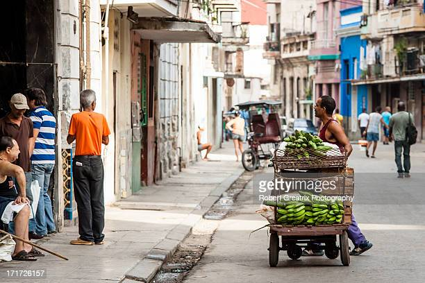 CONTENT] A capture of daily street life in Habana Vieja Cuba The street vendors in Habana Centro give Castro's Cuba such vibrancy and life This scene...