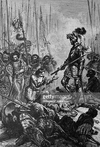 Capture of francis i king of france in pavia historical illustration circa 1886
