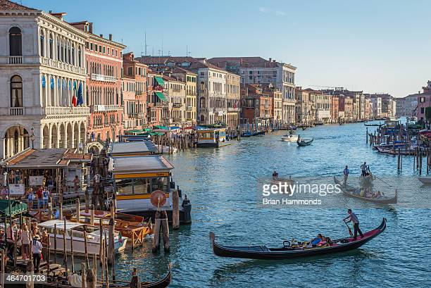 CONTENT] Capture of gondolas on the Grand Canal in Venice Italy