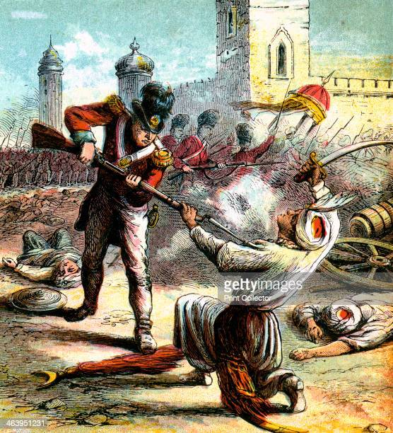 'Capture of Seringapatam' 1799 Srirangapatna the chief city of Mysore India was captured by the British army commanded by the Duke of Wellington in...